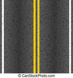 Asphalt road with marking lines illustration
