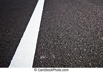 Asphalt road with separation white lines
