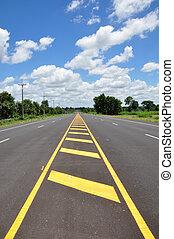 Asphalt road with sky