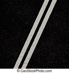 Asphalt road with white lines