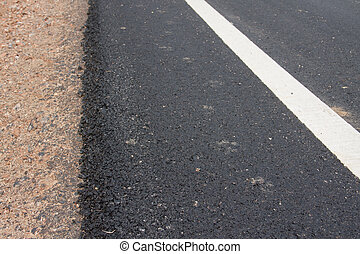 asphalt roadside