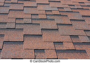 Asphalt shingles - Professionally laid asphalt shingle...