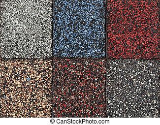 Asphalt shingles samples - Roofing material asphalt shingles...