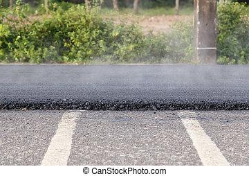 asphalt, standort, maschine, baugewerbe, rolle, straße,...