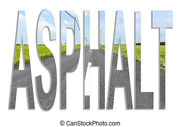 asphalt - Asphalt road in rural and paddy farm with blue...