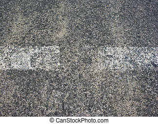 Asphalt texture with white lines