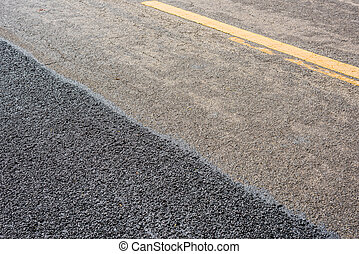 asphalte, nouveau, route, vieux