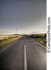 asphaltez route, dans, pays