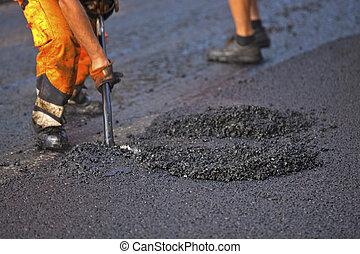 asphalting, estrada