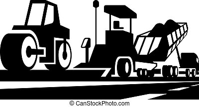 asphalting, van, wegen, en, straten