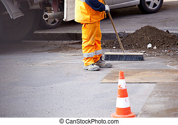 Worker in the street
