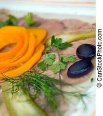 Aspic from meat
