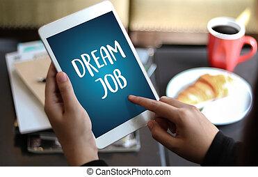 aspiratie, werkende , hipster, werk, beroep, droom, carrière...