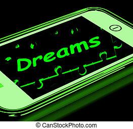 aspiraties, smartphone, dromen, optredens