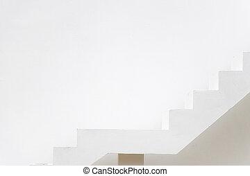 aspiration), viser, sentier, blanc, carrière, escalier, béton, (concept, cible, fond, mur