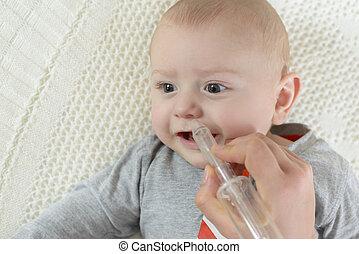 aspirator, 嬰孩, 鼻