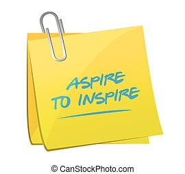 aspire to inspire memo illustration
