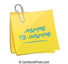 aspire to inspire memo illustration