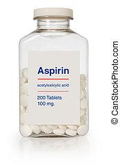aspirin, flaska