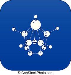 Aspirin icon blue vector