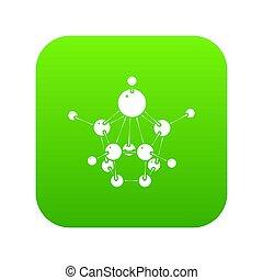 Aspirin icon green