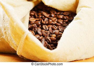 assado, café, em, saco