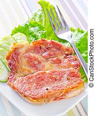 assado, carne