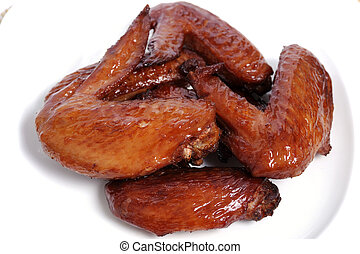 assado, galinha, wings.