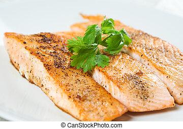 assado, salmão