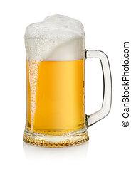 assalte, cerveja, isolado