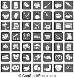 assando, ícones