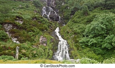 assaranca, wasserfall, bezirk donegal, irland, -, eingestuft, version