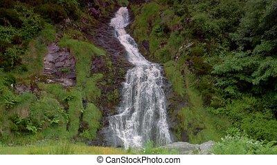 assaranca, wasserfall, bezirk donegal, irland, -, gebürtig, version