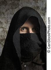 Assassin - Portrait of assassin in darkness