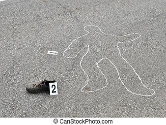 assassinato, em, a, rua