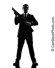 assassino, uomo, silhouette