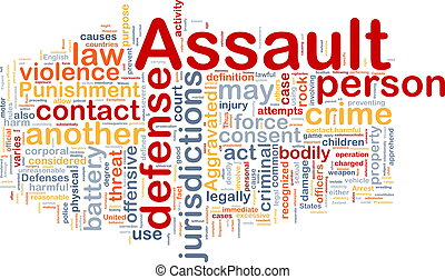 Assault background concept wordcloud - Background concept...