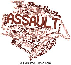 Assault - Abstract word cloud for Assault with related tags...