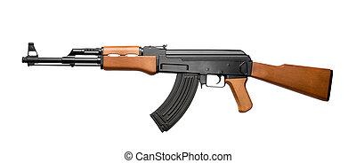 Assault rifle AK-47 - Russian assault rifle AK-47 isolated...