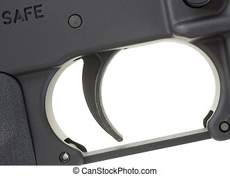 Assault rifle trigger - Trigger that is found on a black...