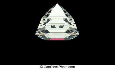 Asscher Cut Diamond - Asscher cut diamond with alpha channel...