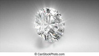 Asscher Cut Diamond - Asscher cut diamond on gray background...