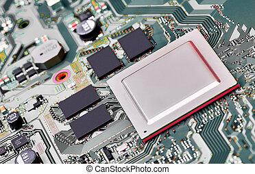 asse, chiudere, circuito, elettronico, su.