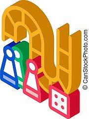 asse, illustrazione, interattivo, vettore, gioco, bambini, icona, isometrico