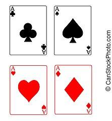 asse, kartenspielen