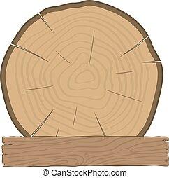 asse legno, ceppo, legname, etichetta