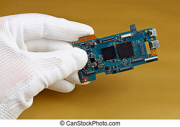asse, qualità, controlli, circuito stampato, macchina fotografica digitale, tecnico, moderno