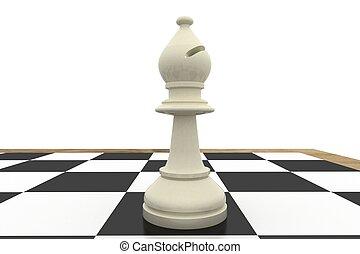 asse, scacchi, vescovo, bianco