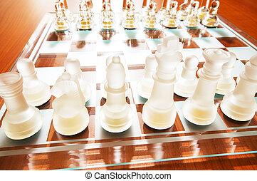 asse, set, figure, scacchi, gioco