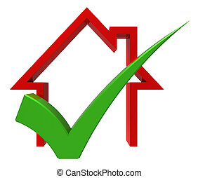 assegno, casa, prestito, vendita, approvato, casa, o, mostra